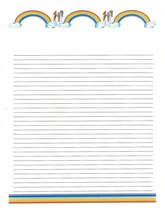 Rainbow 3 Hole Loose Leaf Paper 50 Sheets - $16.82