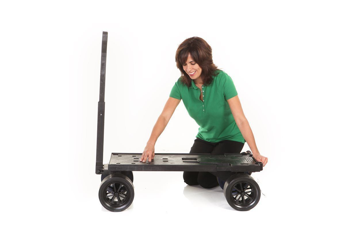 Four Wheeler Pulling Wagon : Flatbed wheel cart dolly platform beach carts hand pull