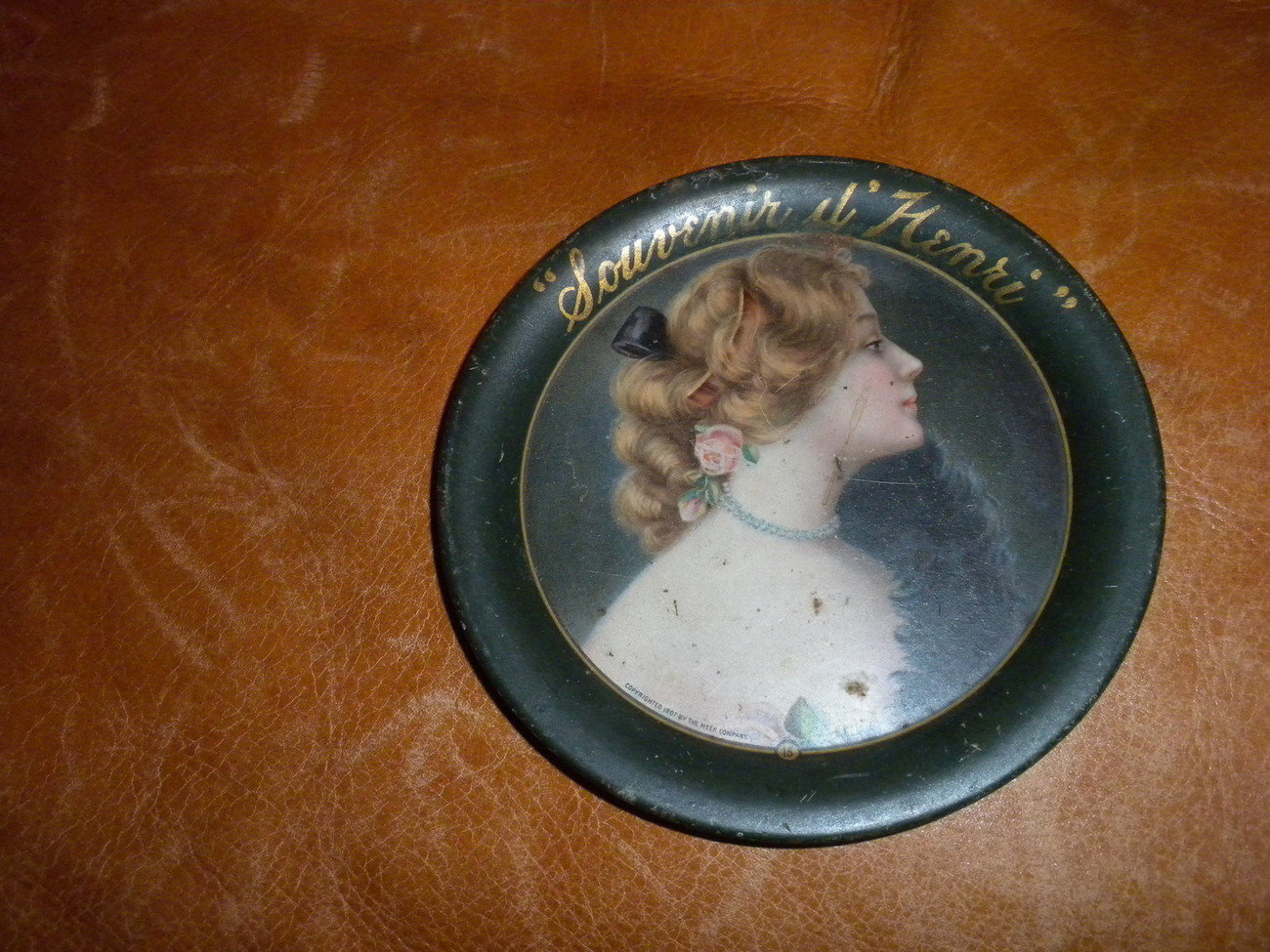 original Souvenir il Henri FrenchTip Tray 1907 Copyrighted Meek Co ,  VG+