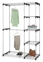 Whitmor Double Rod Freestanding Dorm Closet with Steel and Resin Frame, ... - $59.16