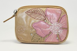 Fossil Lily Floral Tan Pouch Womens Change Purse SL9974231 - $29.70