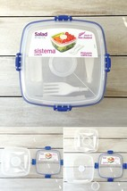 Sistema Klip It 37-Ounce Salad to Go Container, Clear, Lunch Box Dressin... - €8,05 EUR