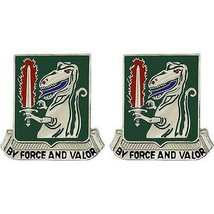 Genuine U.S Army Crest: 40TH Armor Regiment - By Force And Valor - $18.79