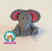 Cute elephant fondant cake topper - $15.00