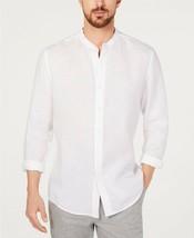 Tasso Elba Men's Banded Collar Linen Shirt Billowing White-Size 2XL - $21.99