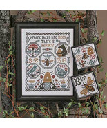 Where There Are Bees REPRINT christmas cross stitch chart Prairie Schooler  - $10.80