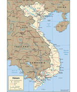 2001 CIA Map of Vietnam Wall Art Poster Home Decor Home-school Gift Clas... - $12.87+