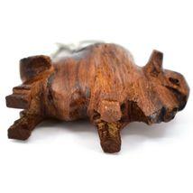 Hand Carved Ironwood Wood Folk Art 3D Buffalo Country Western Theme Keychain image 6
