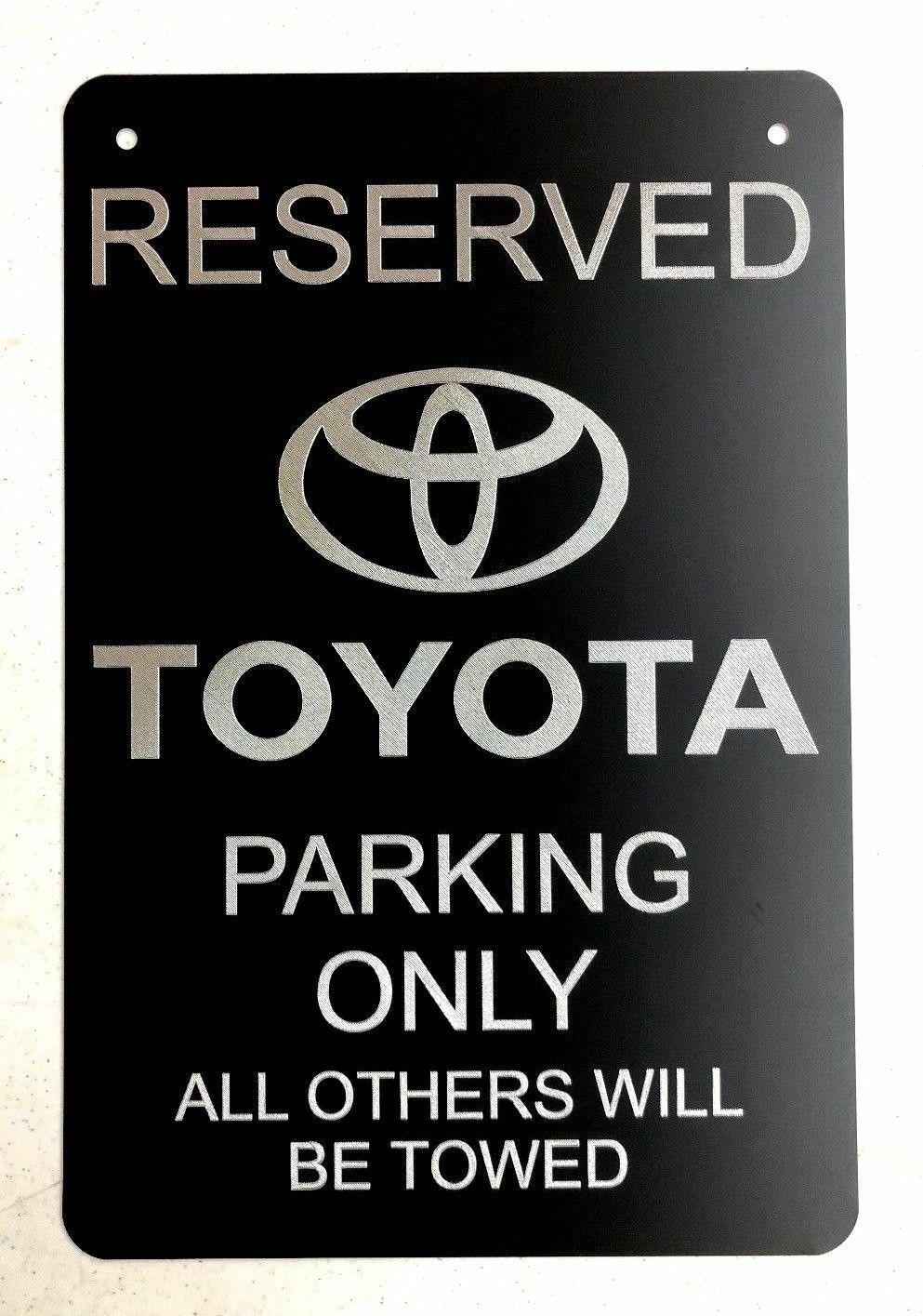 Toyota RAV 4 LOGO Car Tag Diamond Etched on Aluminum License Plate