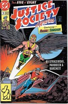 Justice Society of America Comic Book Mini-Series #5 DC 1991 VERY FINE+ - $2.50