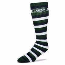 NFL New York NY Jets Striped Knee High Hi Tube Socks One Size Fits Most Adults - $7.95