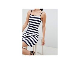 ASOS DESIGN mini square neck sundress in stripe Size US 8 NWT - €11,46 EUR