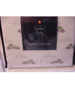Cynthia Rowley Gray Volkswagon Bugs with Cactus Sheet Set Queen - $72.00