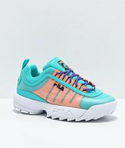 Nuevo Fila Disruptor II Monomesh Turquesa Zapatos Multicolor - $108.91