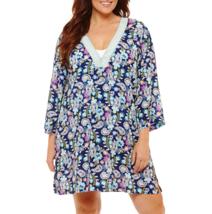 Liz Claiborne Paisley Swimsuit Cover-Up Dress Plus Size 1X Msrp $54.00 - $26.99