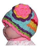 Neon Pink Toddler Hat Girls Toddlers Purple Orange Red Yellow Green Brights - $18.00