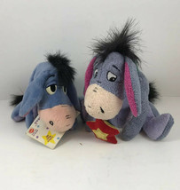 DISNEY EEYORE Beanbag PLUSH ANIMAL WINNIE THE POOH Lot Of 2 - $9.75