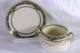 Hutschenreuther Crown Lion HUT 158 Consume Cup And Saucer - $8.99