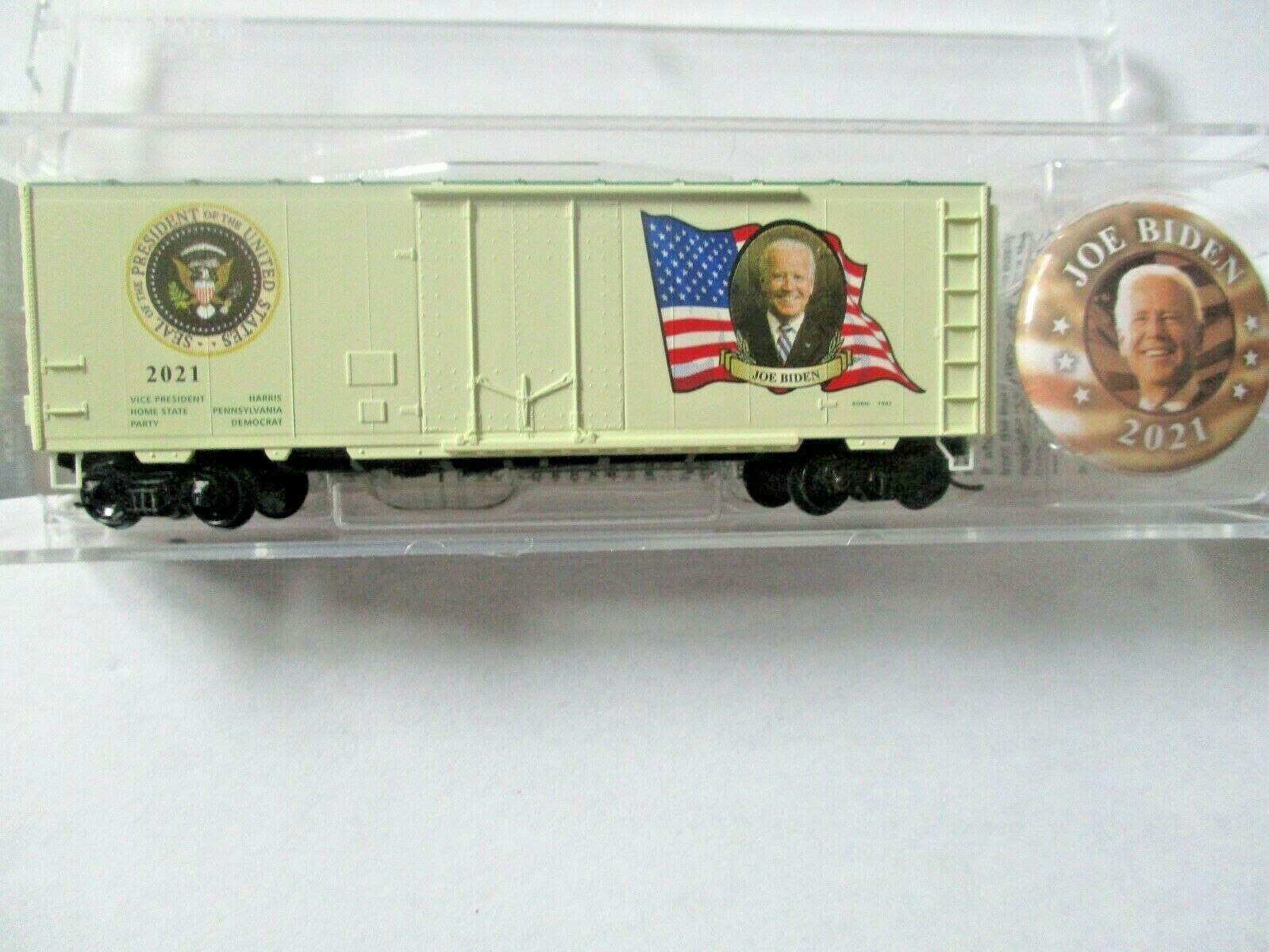 Micro-Trains # 07400146 Joe Biden Presidential 40' Boxcar Road # 2021. N-Scale