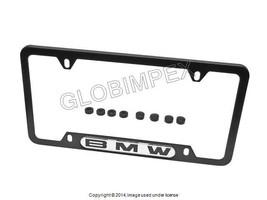 BMW License Plate Frame Black Stainless Steel GENUINE + 1 year Warranty - $57.75