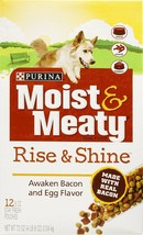 Purina Moist & Meaty Dog Food Rise & Shine Awaken Bacon And Egg Flavor - $26.46
