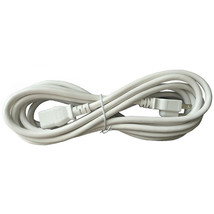 BYBON 10ft 18 AWG SJT Universal Power Cord for computer,printer,White,UL - $9.15