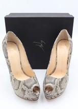 NIB Giuseppe Zanotti Sharon Snakeskin Peep Toe Platform Pumps Heels 11 4... - €346,10 EUR