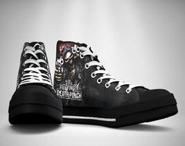 5 finger death punch Canvas Sneakers Shoes - $49.99