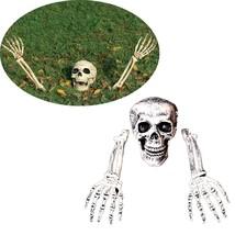 Buried Alive Skeleton Skull Halloween Garden Yard Lawn Decor Horror 3 Pi... - €22,89 EUR