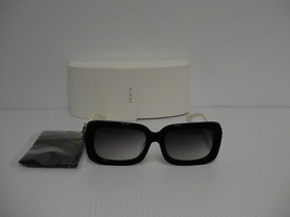 PRADA woman new sunglasses spr 33ps square black white Swarovski Crystal - $247.45