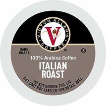 Victor Allen's Coffee K Cups Italian Roast Single Serve Dark Roast Coffe... - $36.52