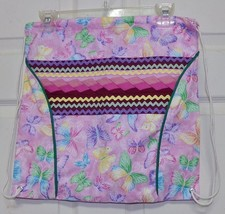 Native American Seminole Patchwork Back Pack Book Bag Pink Butterfly Han... - $49.99