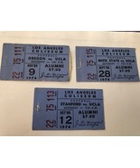 VTG Lot of  3 1974 UCLA Bruins vs Mich. Stanford Football Ticket L.A. Co... - $23.76