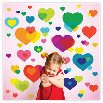 Overlapping Hearts Reusable Decals by Wallcandy Arts - $48.00