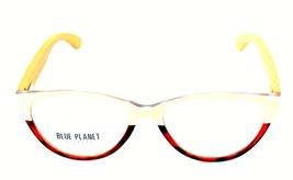 READING EYE GLASSES Eco Friendly BLUE PLANET Designer Women 1.50 Beige T... - $26.08