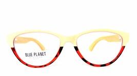 READING EYE GLASSES Eco Friendly BLUE PLANET Designer Women 1.25 Beige T... - $26.08
