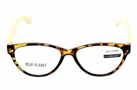 READING EYE GLASSES Eco Friendly BLUE PLANET Designer Women 1.50 Honey T... - $26.08