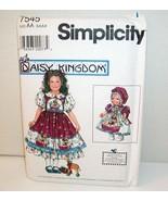 SIMPLICITY DAISY KINGDOM PATTERN-OOP#7545-GIRLS DRESS/DOLL DRESS-NEW/UNCUT! - $8.14
