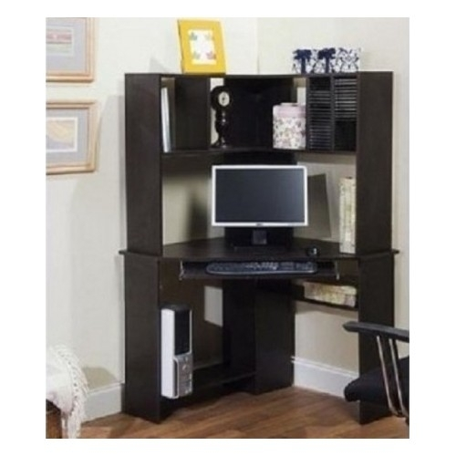 desk hutch bookcase space saving dorm home office espresso desks