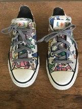 Converse Grateful Dead All Star shoes white dancing bears men 4 women 6 Low Tops - $56.09