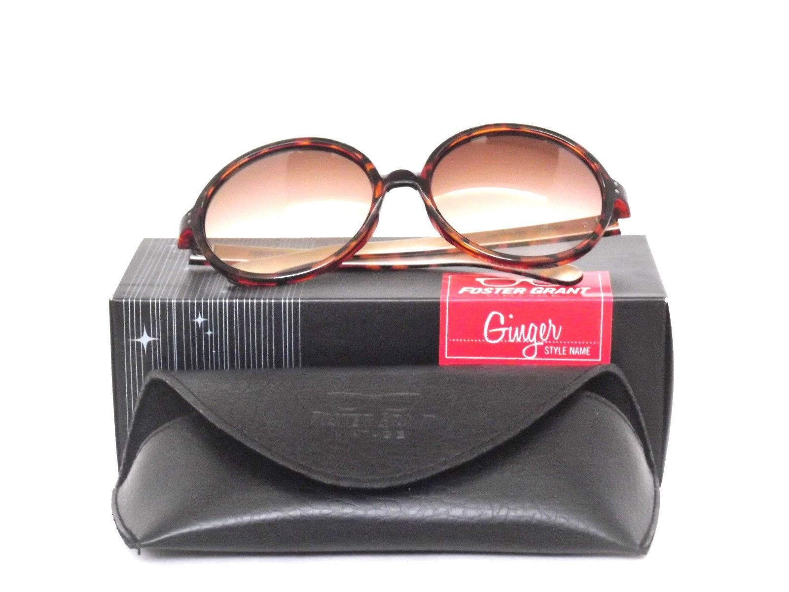 New Vintage Series Retro Look Ladies FOSTER GRANT SUNGLASSES Case Box Tortoise