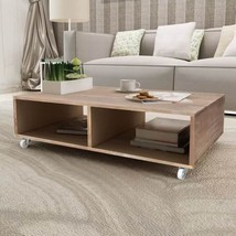 Wooden Coffee Table Brown Living Room Desk Bar Nightstand Bedroom Side E... - €106,44 EUR