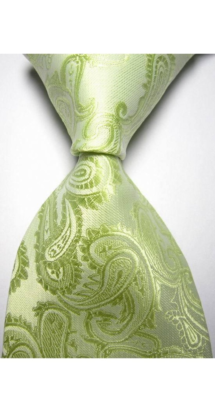 Primary image for Eeleva New Paisley Jacquard Woven Men's Tie Necktie (Green)