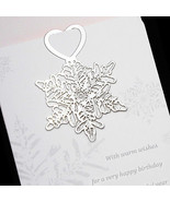 Snowflake 18K Gold Plated Bookmark Book Card - $10.99