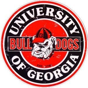 University of Georgia Bulldogs Collegiate Embossed Metal Circular Sign CS60092