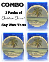 COMBO # Packs of Caribbean Coconut - 3.2 Ounce Pack of Soy Wax Tarts - S... - £6.74 GBP