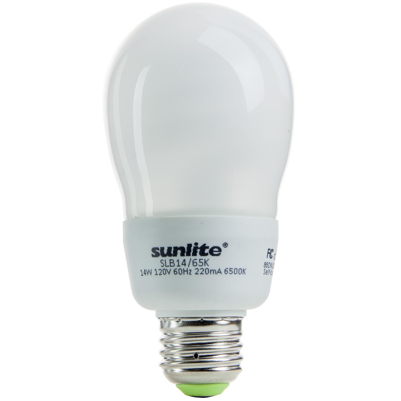 Sunlite 14 Watt A Type Daylight Medium Base Cfl Light Bulb Light Bulbs