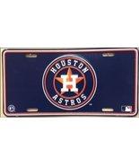 Houston Astros MLB Embossed Vanity Metal Novelt... - $4.99