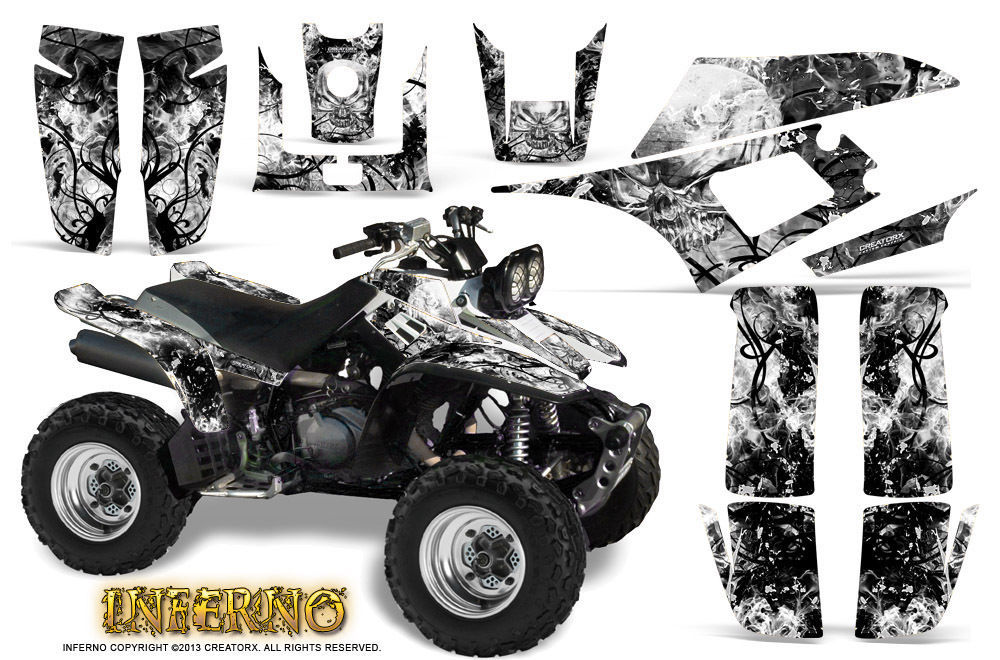 Primary image for YAMAHA WARRIOR 350 GRAPHICS KIT CREATORX DECALS STICKERS INFERNO W