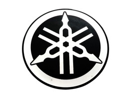 55 Mm Tuning Fork Logo Black Silver Decal Sticker For Brand New Yamaha - $4.21